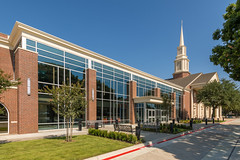 Custer Road United Methodist Church (Wade Griffith) Tags: 2018 custerroadunitedmethodistchurch hillwilkinson plano texas addition bathrooms childrensarea classrooms exterior hallways lobby modern new receptiondesk renovation stainedglasswindow theater windowlight worshipcenter