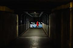 Overpass (ewitsoe) Tags: canoneos6dii city street warszawa erikwitsoe poland summer urban warsaw overpass 50mm traffic freeway lady reddress walkingafternoon midday day polska travel visit