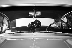 Classic (Nicholas Erwin) Tags: car vehicle automobile classiccar classic dice window windshield mirror steeringwheel auto automotive carshow autoshow blackandwhite monochrome bw mono ticonderoga newyork ny unitedstatesofamerica usa america fujifilmxt2 fujixt2 fujifilm fuji xt2 xf35mmf2 xf35mmf2rwr xf35mm fav10 fav25