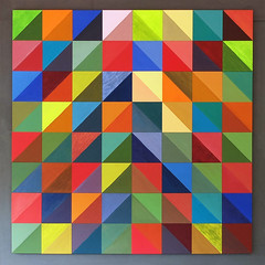 Colors colors - and geometry! Love it! (keinidyll) Tags: wallhanging multicolored square