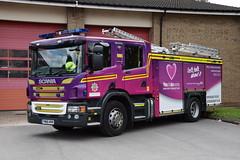 Humberside - YN66MVK - Bransholme - WrT (matthewleggott) Tags: humberside fire rescue service engine appliance yn66mbk scania emergency one bransholme water tender wrt purple wrapped organ donation