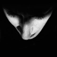 Pieces Of... (.Betina.) Tags: betinalaplante portrait portraiture blackandwhite bb 2018 iphoneography iphone self monochrome mood mono moody dark face
