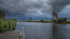 Rainy Days in Kinderdijk (Wim Boon Fotografie) Tags: wimboon windmill rain storm kinderdijk unescoworldheritage water holland netherlands nederland natuur nature natura2000gebied leefilternd09softgrad leefilter canonef2470mmf28liiusm