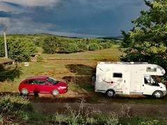 Goudargues, France (denismartin) Tags: denismartin car rv red gard goudargues countryside landscape weather rain white