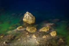 night rock (harakis picture) Tags: pierre eau water night sony a7 contactgroups healinglightofthespirit extraordinarilyimpressive abigfave