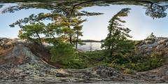 Sunset time just outside Killarney Provincial Park: Charlton Lake, Willisville, ON (interactive 360degree pano) (auggie w) Tags: killarney killarneyprovincialpark ontario north nature wilderness sunset evening summer island rock vacation 360pano 360 vr virtualreality