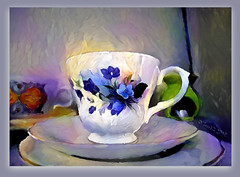 If this is coffee, please bring me some tea; but if this is tea, please bring me some coffee. (Abraham Lincoln) (boeckli) Tags: cup tasse kaffetasse saucer pozellan china porcelain textures texturen texture textur ddg deepdreamgenerator topaz topazstudio photoborder rahmen flower pastel pastell blumen blooms bunt farbig colourful colorful painterly 000210 rx100m6