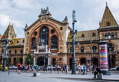2018 - Hungary - Budapest - The Great Market Hall - 1 of 2 (Ted's photos - For Me & You) Tags: 2018 budapest cropped hungary nikon nikond750 nikonfx tedmcgrath tedsphotos vignetting thegreatmarkethall thegreatmarkethallbudapest budapestgreatmarkethall bollards streetscene street people peopleandpaths pathsandpeople arches building