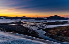 Icelandic landscape at sunset (yolo07) Tags: extremeweather river trekking vikingland nationalpark volcano volcanic mood nordic backpcking glacier sunset iceland