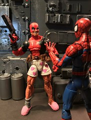 DP: Okay Spidey lets go save the world!! SM: How about you put on some pants first. (chevy2who) Tags: figure action toyphotography toy hasbro deadpool marvelcomics marveluniverse spiderman marvel