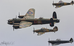 Battle of Britain Memorial Flight Avro Lancaster B.I  PA474-4 (benji1867) Tags: battle britain memorial flight avro lancaster bi pa474 supermarine spitfire hawker hurricane fighter warbird bbmf bobmf raf royal air force coningsby leader avgeek avporn aviation prop piston wwii ww2 world war 2 two fly flying canon 7d2 fairford riat riat17 riat2017 17 2017 international tattoo egva