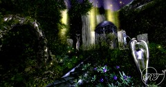 Moonlight (RoseThornberry) Tags: secondlife second life sl vr virtual reality photography edit magical fantasy exploring art landscape scenery whimsical sunset dreamy photo unicorn sanctuary stars moon sky moonlight garden tree