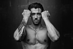Peppe (francesco ercolano) Tags: man male body nude muscles bn bw portrait emotive