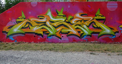 RUBER (Ghetto En Kouleurs) Tags: ruber gek team graffiti murals fresque summer time valence pont des lones fuck toys tag wall art street 2018