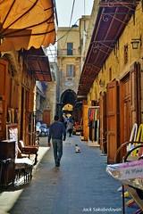 Old Souk in Saida, Sidon (Jack Sakabedoyan) Tags: oldsouk oldshops saida sidon southlebanon oldstreet lebanon people windows arches