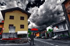 Me and my red umbrella in the rain (Marco Trovò) Tags: marcotrovò hdr canon5d castione bergamo lombardia italia italy presolana cincinbar fantasy