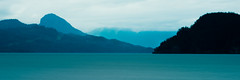 Harrison Lake_ (Gene Mordaunt) Tags: harrisonlake britishcolumbia canada lake longexposure monotone water mountain beautifulearth landscape sky