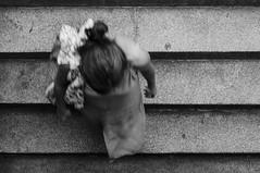 Bajar al metro (iratxo.pichel) Tags: madrid paseo street bw byn