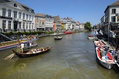River Leie (albireo 2006) Tags: belgium water leie riverleie boats river gent ghent
