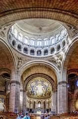Basilique du sacré- cœur (musette thierry) Tags: vert musette thierry d600 sacrécoeur paris capital france iledefrance butte montmartre coeur nikon panorama interrieur architecture basilique