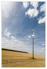 _stromabwaerts (fot_oKraM) Tags: feld acker field landwirtschaft agriculture freileitung freileitungsmast strommast pylon wires sky landscape strom power lines energy