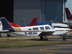 G-BEHH Piper Cherokee Lance 32 (Private) (Aircaft @ Gloucestershire Airport By James) Tags: gloucestershire airport gbehh piper cherokee lance 32 private egbj james lloyds