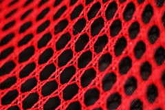 Another Fine Mesh (oddbodd13) Tags: macromondays mesh macro red fishnet stocking hosiery weave pattern geometric abstract lingerie