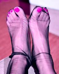 encased (pbass156) Tags: silky hosiery paintedtoes pedicure painted pantyhose pedi toes toefetish toenails toepolish sexy hose lace feet foot footfetish fetish teasing stockings stocking