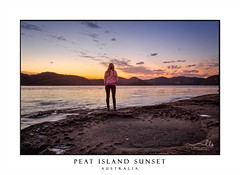 Watching the sunset from foreshore of Peat Island (sugarbellaleah) Tags: australia centralcoast mooneymooney peatisland environment hawkesbury island nature river water sunset foreshore rocks eroded mountains sundown watching looking standing woman female sky people tranquil serenity hawkesburyriver nsw