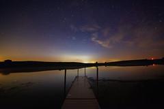 Farm Creek Lake Iowa (melaniemoree) Tags: astrophotography astro lake stars starrynight pier dogwood2018 dogwood2018week29 twilight
