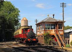 """Captain Baxter (Treflyn) Tags: bluebell railway fletcher jennings 040t """"captain baxter"""" former radstock north signal box branch line didcot centre published railways illustrated"""