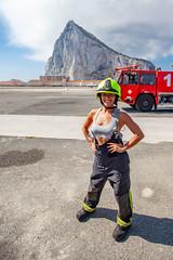Fire is hot (Captain Dibbles Pace Stick) Tags: girlpower woman sexy underwear firefighter people portrait strong helmet uniform