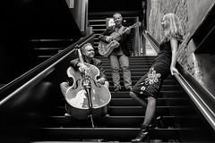 3 AM (marcel.perik) Tags: doublebass guitar music stairs bw dordrecht dutch nederland netherlands group acoustic