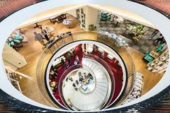 Circular Shopping (Sean Batten) Tags: london england unitedkingdom gb europe city urban nikon d800 1424 fortnumandmason shop departmentstore spiral stairs