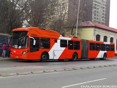 Express de Santiago 6509 (Chailander Borges (São Paulo/Brasil)) Tags: sistema bus buses trans santiago transantiago cidade chile transport public ônibus autobus autobuses articulado rua parabrisa placa edifício