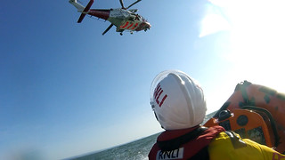 Training with Coastguard Helicopter 187