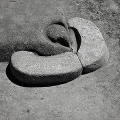 Detail, Temple of the Condor, Machu Picchu (austin granger) Tags: machupicchu peru templeofthecondor sculpture stone condor inca evidence religion archaeology civilization time bird square film gf670 beak