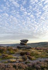 Over Owler Tor (l4ts) Tags: landscape derbyshire peakdistrict darkpeak overowlertor goldenhour sunrise heather moorland gritstone gritstonetor cloudscape clouds stanageedge dawn