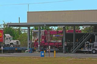Racked Truck Near Ethenol Terminal, Strates Shows WinterQuarters, Taft, FL