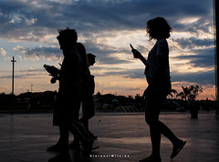 Silhouettes (Giovamilo_90) Tags: street streetph streetphotography streetphoto streetview streetphotographer strada silhouette mall centrocommerciale sky color