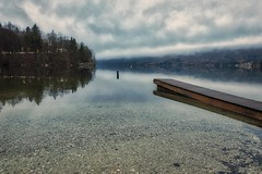 0812 Early Morning On The Bohinj Lake (Hrvoje Simich - gaZZda) Tags: outdoors noperson morning clouds beach pier longexposure pond reflections travel bohinj slovenia europe nikon nikond750 sigma2414art gazzda hrvojesimich