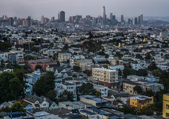 duncan street rooftops (pbo31) Tags: sanfrancisco california nikon d810 august 2018 summer boury pbo31 city urban color rooftops glenpark skyline salesforce mission district over view neighborhood mist sunset 181fremont transamerica baybridge bridge 80