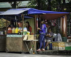 Getting Ready (Beegee49) Tags: drinks snacks stall vendor silay city philippines