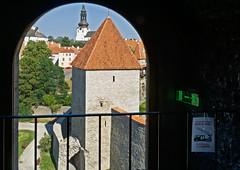 Evacuation plan A (Tigra K) Tags: tallinn ee estonia harjumaakond 2018 architecture church city funny garden medieval path roof sign texture tower tree wall pattern