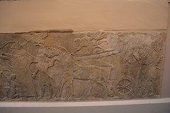 London, England, UK - British Museum - Assyria - Battle Scene, Nimrud, 865-860 BC (jrozwado) Tags: europe uk unitedkingdom england london museum britishmuseum history culture anthropology assyria frieze relief nimrud battlescene