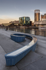 Dock 9 (andyrousephotography) Tags: salfordquays mediacityuk bbc thealchemist lowrytheatre northbay dock9 sculpture ninedock architecture buildings thelittlethingsyoudontnotice anecdotes wit witticisms sunset glow golden batterthequays