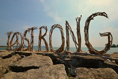 'T.O. Strong' Driftwood Sculpture Sign Graces Humber Bay Shores .... Toronto, Ontario, Canada (Greg's Southern Ontario (catching Up Slowly)) Tags: tostrong tostrongdriftwoodsculpturesign driftwood driftwoodsculpturesign torontoist publicartwork 2018torontotragedies humberbay lakeontario greatlakes