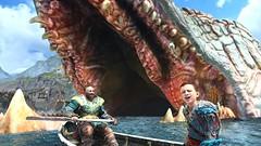 God of War (2018) - Family Trip (GrawlNL) Tags: god war ps4 pro kratos family trip tiny giant monster serpent snake lake nine atreus