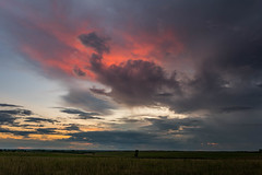 Dissapating Storm Sunset 3 (thefisch1) Tags: sunset strom disappating horizon pasture sky color kansas
