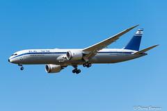 """[CDG] EL AL """"70's Retro Livery"""" Boeing 787-9 _ 4X-EDF (thibou1) Tags: thierrybourgain cdg lfpg spotting aircraft airplane nikon d810 tamron sigma retrolivery 70sretrolivery elal israelairlines boeing boeing787 b787 b7879 b789 dreamliner 4xedf landing"""